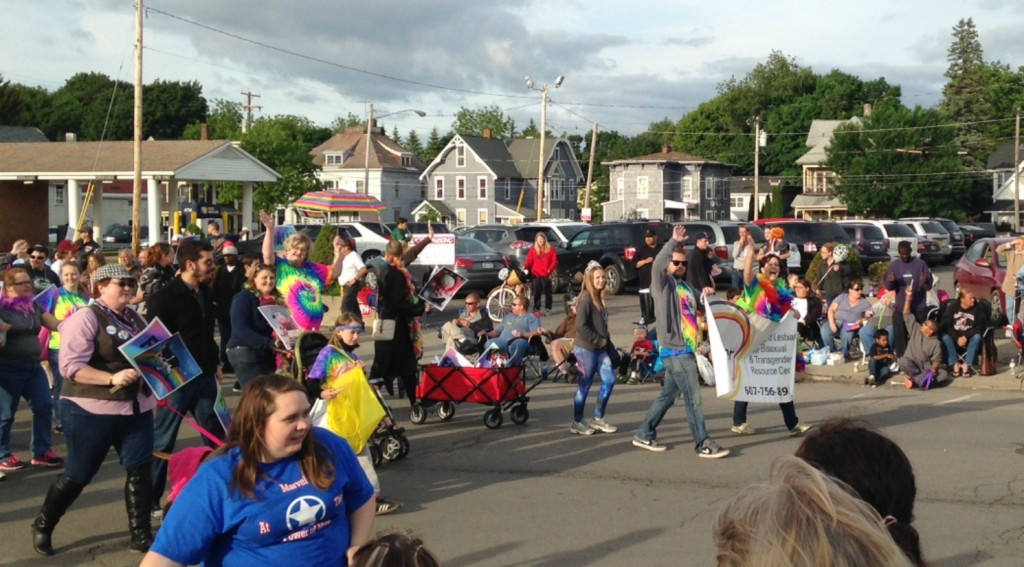 LGBT crew in parade