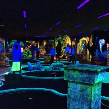 Mini Golf Under Black Lights?   You Bet!!