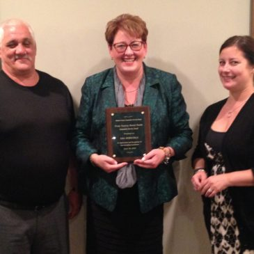 Hoeschele Receives Award from Madison Community Services Board