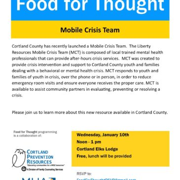 Food for Thought – learn about new Mobile Crisis Team