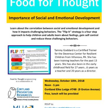 October Food for Thought: Social and Emotional Development